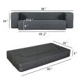 Sofá cama plegable Queen gris oscuro