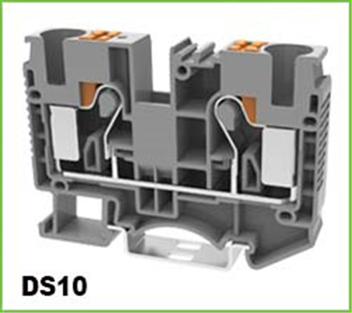 Spring-Cage Push-in Electric Dinrail Terminal Blocks 2.5mm2