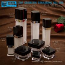 Impresionante hermosa amplia gama clásica y popular caliente-vendiendo alta calidad cuadrado botella y el tarro empaquetado cosmético de lujo
