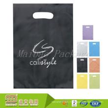De Bonne Qualité Sac noir en plastique givré par PO / HDPE de couleur noire imprimée par coutume biodégradable
