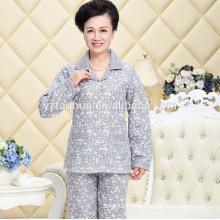 Plus Mom Polyester Coral Fleece Warm Payamas Suit