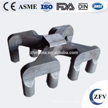OEM de fábrica precio molde pan de molde/escoria de yugo/sow ánodo de acero hecho en fundición de china alibaba para el reciclaje de aluminio