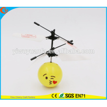 Hot Selling Interesting Mini Flying Ball Toy Kiss Emoji Face Heli Ball Christmas Gift for Kid