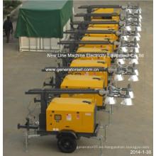 Torre de iluminación del conjunto de generador móvil (7-18kw)