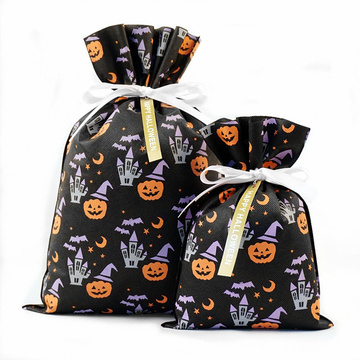 Little Pumpkin Bolsa de regalo no tejida Bolsas de regalo de Halloween