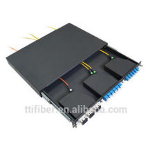 1U MTP/MPO cassette Patch Panel for SC , LC MPO Cassette