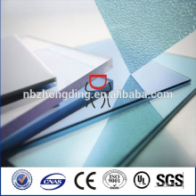 Clear,green,blue,smoke brown,opal PC polycarbonate frosted sheet