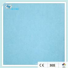 Laminated Spunlace Nonwoven Fabric 50%VIS50%PET 60gsm,( 54644015,40gsm blue spunlace + 20PE film blue)