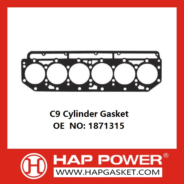 HAP-CAT-011-C9 Cylinder Gasket OE NO 1871315 for Excavator Engine parts