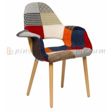 Eames Organic Fabric Covered Stuhl