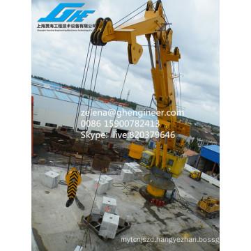 ABS Certificate 100 T Lifting Capacity Crane Knuckle Boom Crane