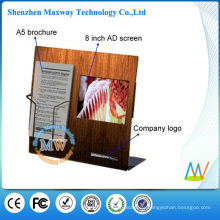 Acrylic counter display with 8 inch lcd screen