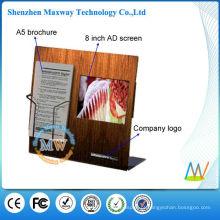 Indicação do contador do acrílico com tela de lcd de 8 polegadas