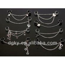 Earrings Of Chain In The Ear Dual Ear Cuff No Piercing Earring Chain