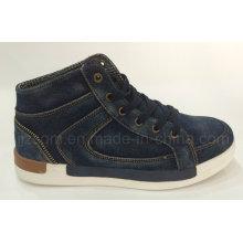 Мода высокой верхней мыть джинсовой улице повседневная обувь