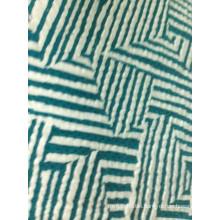 Polyester spandex jacquard knit fabric
