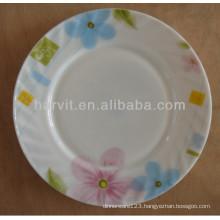 Wholesale Home Decorative Flower Pattern Heat-resistant Opal Glassware Tableware Plates Dishes Sets