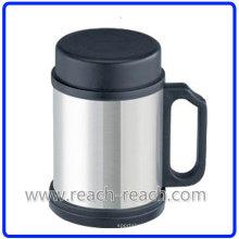 Edelstahl-Travel Cup Kaffeetasse mit Deckel (R-5014)