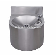 Commercial Catering Hand Wash Basin with Splashback, Wall Hung Stainless Steel Hand Wash Sink for Restaurant
