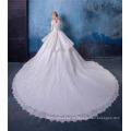 Vestido de baile vintage mulheres vestido de noiva com cauda