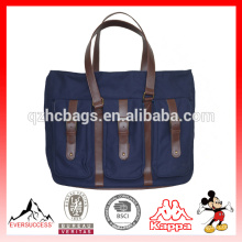 Novo modelo de couro fralda sacola Canvas bag Mens Tote (ES-Z366)