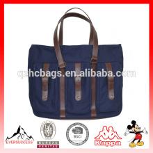 Новая модель кожа пеленки мешок tote холст сумка мужская Сумка (ЭС-Z366)