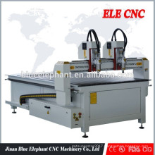 ELE1325 professional wood cnc router double heads
