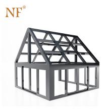 Prefabricated Slant Roof Aluminum Glass Sunroom