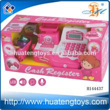 2014 Детский пластиковый комплект игрушек с кассовым аппаратом, игрушки для детей электронные кассовые игрушки для детей H144437