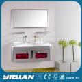 Gabinete de vaidade com espelho de parede de pia dupla para vaso sanitário Cabine de banho de aço inoxidável Hangzhou Factory