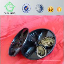 China machte populären Großhandelsmarkt Irlands USA kundengebundenen Entwurfs-Plastik-Austern-Kästen, Austern-Behälter im Restaurant