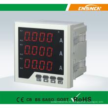 Tamaño 72 * 72mm Medidor trifásico del amperio de la CA de la exhibición del LCD del precio de fábrica, para el uso industrial