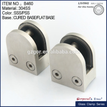 small size die-cast stainless steel round glass clamp