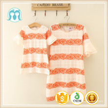 2016 summer new fashion kids clothes baby dress pictures party wear children girl dress mommy adult dresses