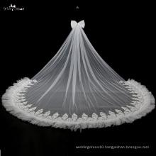 TA042 Ruffle 5 Meters Long Applique Wedding Veils
