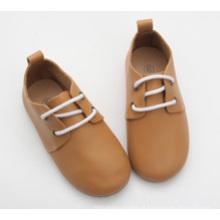 Crianças por atacado crianças crianças couro genuíno sapatos casuais oxford