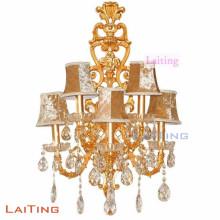 Lámpara de pared de cristal del dormitorio de la lámpara de pared moderna simple del estilo LED que cabe la guarnición