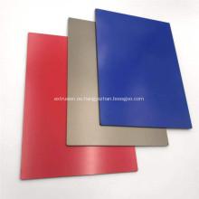 Panel compuesto de aluminio incombustible PVDF azul para decorar