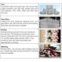 Großhandel benutzerdefinierte gedruckten Polyestergewebe für Bettwäsche Stoff