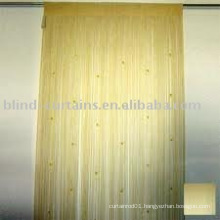 String curtain with metallic