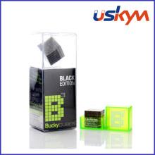 Jouet de cube magnétique de revêtement en nickel noir (T-025)