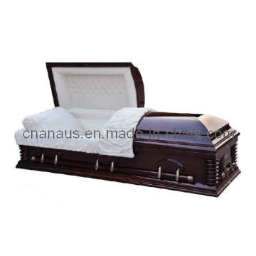 US Style Solid Cherry Wood Casket (6050502)