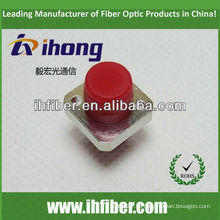 FC adaptador cuadrado de fibra óptica dos agujeros
