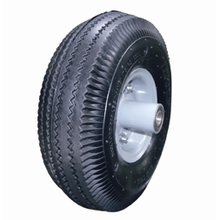 Metal rim Compare Pneumatic rubber wheel 10*3.50-4
