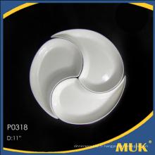 Nouvelle conception vaisselle fine nouvelle porcelaine céramique plaques divisées