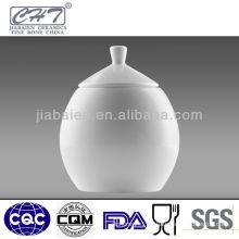 white bone china ceramic porcelain sugar pot