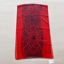 Red Polyester 30d Digital Printing Chiffon Scarf Women