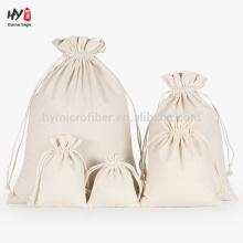 Plain canvas drawstring bag for sale