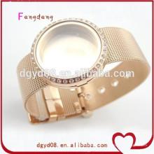 Hot nouveaux produits pour 2015 dames en acier inoxydable bracelet à breloques