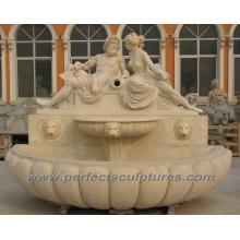 Fonte do jardim para a fonte de água de mármore da pedra (SY-W156)